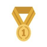 Het goud van de trofeemedaille Royalty-vrije Stock Afbeelding