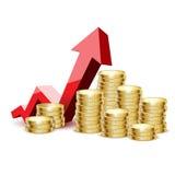 Het goud van muntstukken Stock Fotografie