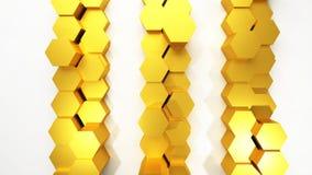 Het gouden abstracte 3D Teruggeven als achtergrond Stock Afbeeldingen