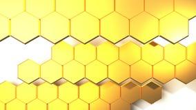 Het gouden abstracte 3D Teruggeven als achtergrond Royalty-vrije Stock Foto