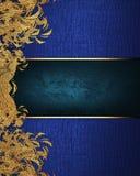 Het gouden abstracte ontwerp van het ontwerpmalplaatje Element voor ontwerp Malplaatje voor ontwerp exemplaarruimte voor adverten Stock Foto