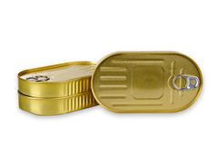 Het gouden aluminium kan Royalty-vrije Stock Foto's