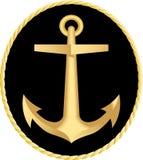 Het gouden anker Royalty-vrije Stock Afbeeldingen