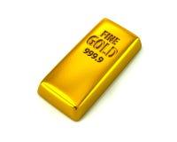 Het gouden bar 3d teruggeven Stock Fotografie