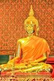 Het gouden beeld van Boedha stock afbeelding