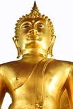 Het gouden beeld van Boedha isoleert, Thailland Stock Foto