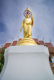Het gouden beeld van Boedha in tempel, Thailand Royalty-vrije Stock Afbeelding
