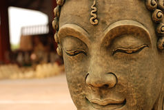 het gouden beeld van Boedha in Thailand Royalty-vrije Stock Foto