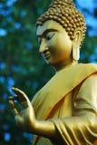 het gouden beeld van Boedha in Thailand Stock Foto