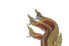 Het gouden Boeddhisme van Boedha op een wit achtergrond of een behang stock foto's