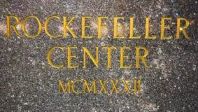 Het gouden Centrum van Rockefeller van het Teken Stock Fotografie