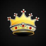 Het gouden concept van de styishkroon royalty-vrije illustratie