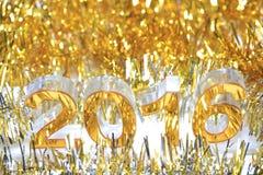 Het gouden 3d pictogram van 2016 Stock Afbeelding