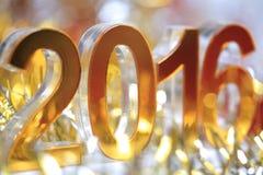 Het gouden 3d pictogram van 2016 Stock Foto's