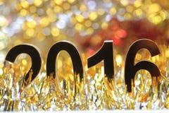 Het gouden 3d pictogram van 2016 Stock Fotografie