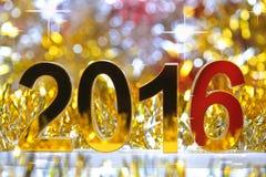 Het gouden 3d pictogram van 2016 Royalty-vrije Stock Fotografie