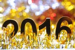 Het gouden 3d pictogram van 2016 Stock Foto