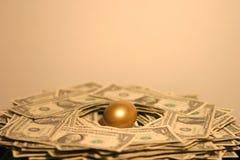 Het gouden Ei van het Nest Stock Foto's