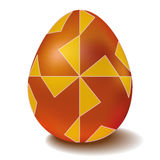 Het gouden ei van Pasen met ornamentwindmolen Stock Foto's