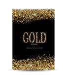 Het gouden fonkelen op de kaart Royalty-vrije Stock Foto