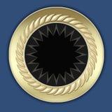 Het gouden frame van de art decozonneschijn Royalty-vrije Stock Foto