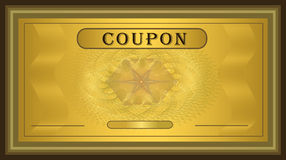 Het gouden frame van de coupon stock illustratie