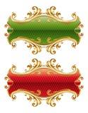 Het gouden frame van de luxe Royalty-vrije Stock Foto's