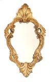 Het gouden frame van de spiegel royalty-vrije stock foto's
