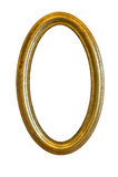 Het gouden Frame van de Spiegel Royalty-vrije Stock Foto