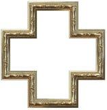 Het gouden frame van het beeld Stock Foto's