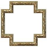 Het gouden frame van het beeld Stock Foto