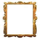 Het gouden frame van het beeld met een decoratief patroon vector illustratie