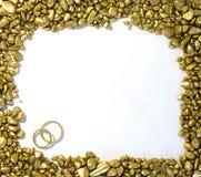 Het Gouden frame van het huwelijk Royalty-vrije Stock Afbeeldingen