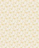 Het gouden geïnspireerde mozaïek van het ogrid geometrische eigentijdse vectorpatroon vector illustratie