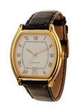 Het gouden geïsoleerde horloge van mensen Royalty-vrije Stock Afbeeldingen