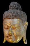 Het gouden Gezicht van Boedha. Royalty-vrije Stock Afbeelding