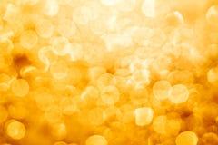 Het gouden gloeien bokeh Royalty-vrije Stock Fotografie