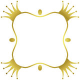 Het gouden kader van de kronengrens Royalty-vrije Stock Afbeeldingen