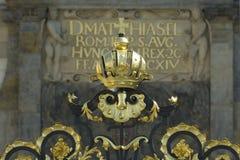 Het gouden Kasteel van Praag van de Kroon royalty-vrije stock fotografie