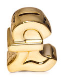 Het gouden knipsel van de pondspaarpot royalty-vrije stock afbeelding