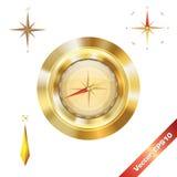 Het gouden Kompas Stock Afbeelding