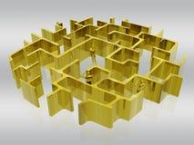 Het gouden labyrint van zaken. stock illustratie