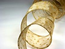 Het gouden lint van Kerstmis Stock Afbeeldingen