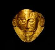 Het gouden masker van Agamemnon stock fotografie