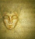 Het gouden masker van de kaart Royalty-vrije Stock Fotografie