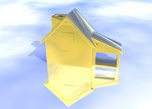 Het gouden Model van het Huis Stock Foto's
