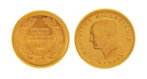 100 HET GOUDEN MUNTSTUK VAN KURUSH Royalty-vrije Stock Fotografie