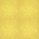 Het gouden naadloze patroon van de Kerstmiskrabbel Stock Afbeelding