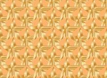 Het gouden naadloze patroon van de ster oranje symmetrie stock illustratie