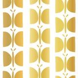 Het gouden naadloze vectorpatroon van de folievlinder stock illustratie
